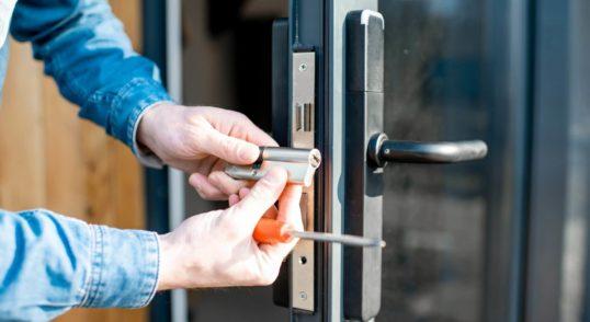 locksmith testing old cylinder lock