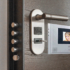 a smart door lock with the latest security features